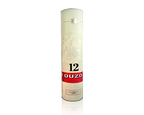 Paper Label for Cylindrical box  Ouzo 12
