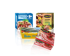 Can boxes  for seafood Trata-Galaxias-Carrefour